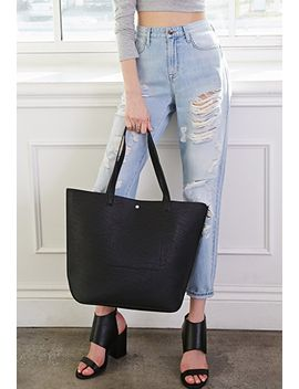 classic-faux-leather-tote by forever-21