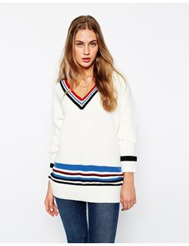 asos-cricket-sweater-with-blocking-and-tipping by asos-collection