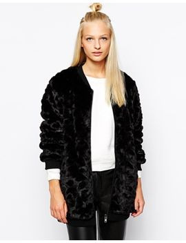 selected-lexa-bomber-jacket-in-faux-fur by selected
