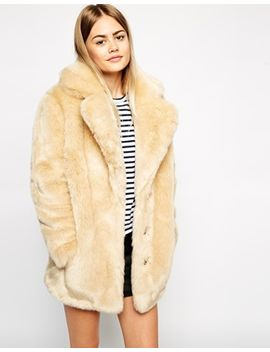 asos-faux-fur-coat-with-oversized-collar by asos-collection