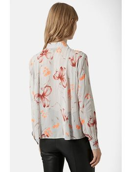 floral-print-bow-blouse by topshop