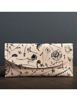 floral-clutch-navy by almanac-industries