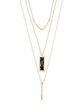 tiered-linear-charm-necklace by cara