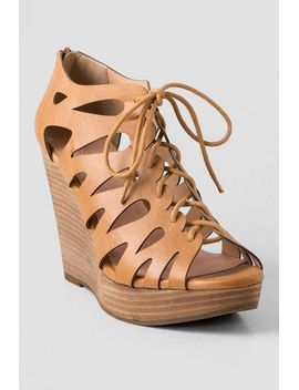 maxout-lace-up-wedge by francescas