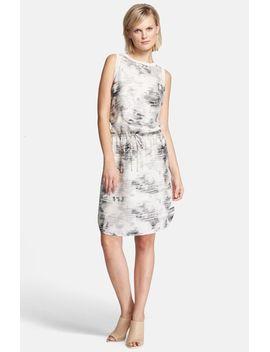 print-drop-waist-silk-dress by vince