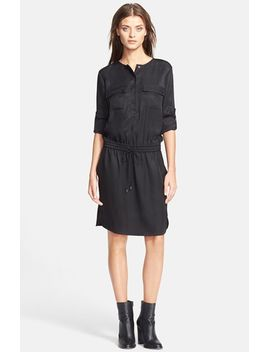 rolled-sleeve-cargo-dress by vince
