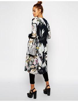 asos-premium-kimono-in-floral-in-maxi-length by asos-collection