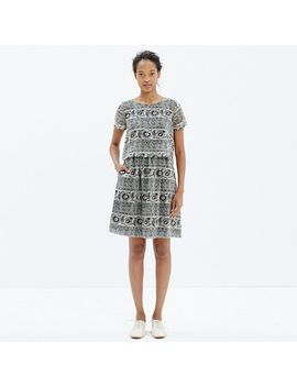 silk-two-piece-dress-in-woodcut-paisley by madewell