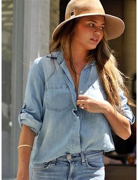 bella-dahl-ombre-split-back-button-down-in-ombre-as-seen-on-chrissy-teigen,-jessica-alba-&-leanne-rimes by bella-dahl