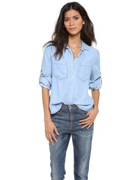 split-back-button-down-shirt by bella-dahl