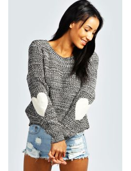 harper-heart-elbow-patch-jumper by boohoo