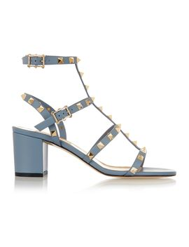 the-rockstud-leather-sandals by valentino