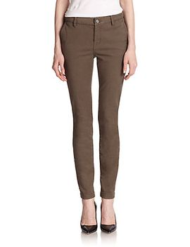 skinny-twill-trousers by joie