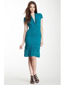 cap-sleeve-pointelle-knit-dress by catherine-malandrino