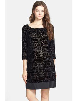 burnout-velvet-shift-dress by laundry-by-shelli-segal