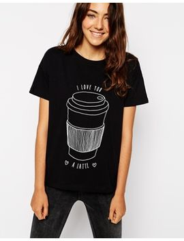 asos-–-t-shirt-mit-i-love-you-a-latte-print by asos-collection