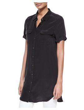 signature-slim-short-sleeve-shirtdress by equipment