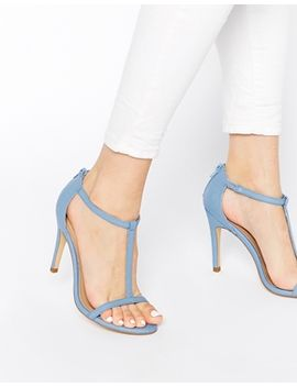 new-look-swarm-barely-there-blue-heeled-sandals by new-look