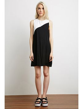 contrast-chiffon-shift-dress by forever-21
