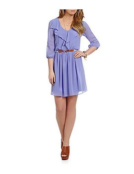 in-san-francisco-ruffle-front-chiffon-dress by generic