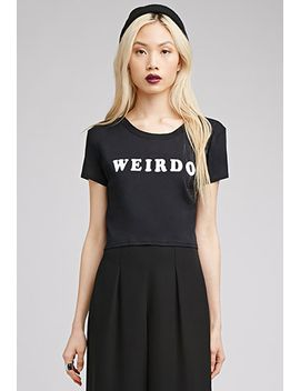 weirdo-crop-top by forever-21