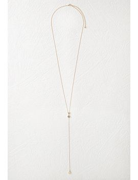 geo-charm-drop-necklace by forever-21