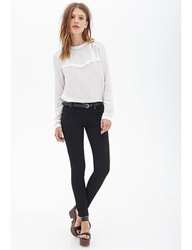 classic-solid-skinny-jeans by forever-21
