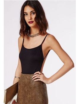 purdy-backless-crepe-bodysuit-black by missguided