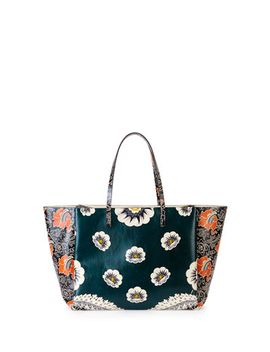 covered-mixed-floral-print-tote-bag,-green_raspberry by valentino