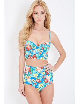 tropical-print-high-waisted-bottoms by forever-21