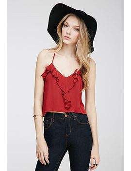 ruffled-crossback-cami-top by forever-21