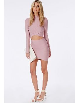 bandage-wrap-over-crop-top-mauve by missguided
