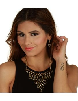 black-majestic-fringe-necklace-set by windsor