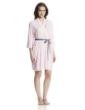 jockey-womens-rayon-spandex-kimono-robe,-powder-pink,-medium by jockey