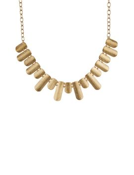 18k-gold-clad-satin-textured-cleopatra-necklace by rivka-friedman