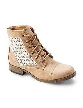 route-66-womens-raleigh-tan-lace-combat-boot by kmart