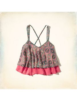 strappy-lace-peasant-top by hollister