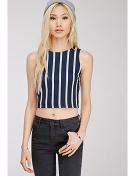 vertical-striped-crop-top by forever-21