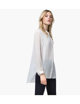 large-silk-blouse-with-placket-detail by massimo-dutti