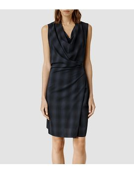 liebe-check-dress by allsaints