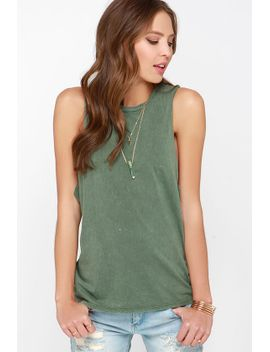 rvca-boyfriend-washed-olive-green-muscle-tee by rvca