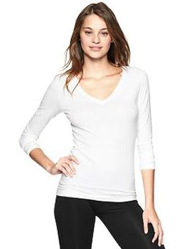 pure-body-long-sleeve-v-neck-tee by gap
