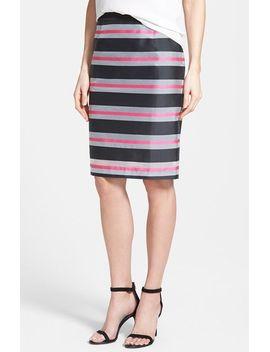organza-stripe-pencil-skirt by halogen®