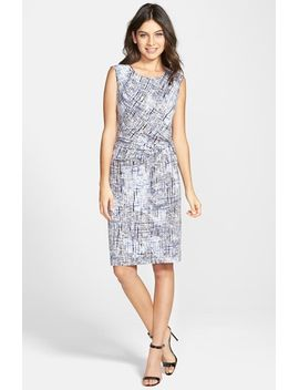 spring-rain-faux-wrap-sheath-dress by nic+zoe