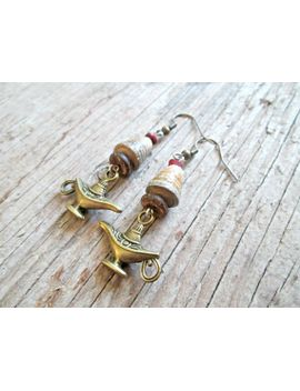 magic-lamp-earrings---genie-lamp-earrings---arabic-jewelry---middle-eastern-jewelry---aladdin-lamp-earrings---boho-jewelry---hippie-gypsy by earthchildart