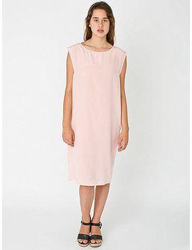 washed-silk-midi-dress by american-apparel