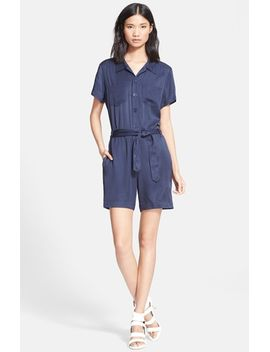 short-sleeve-twill-romper by apc
