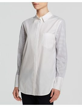 mixed-shirting-button-down-shirt by vince
