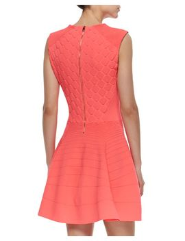 textured-fit-and-flare-sleeveless-dress by ted-baker-london