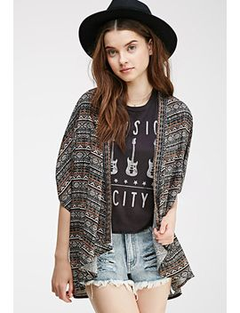 tribal-print-dolman-cardigan by forever-21